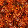 Red eye flames skulls devil hydrographics water transfer printing film