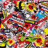 Sticker Bomb Racing Hydrographics Film Water Transfer Printing