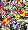 Racing monster Sticker bomb hydrographics water transfer printing film