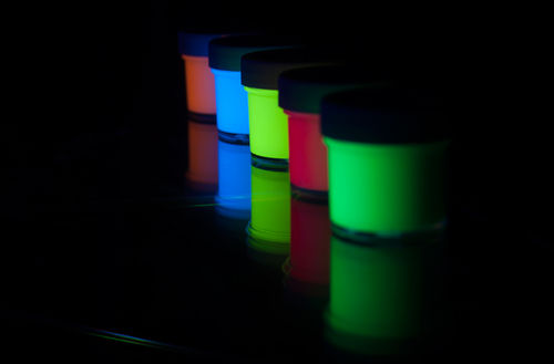 Glow In The Dark Paint Yellow- Green  500ml KIT